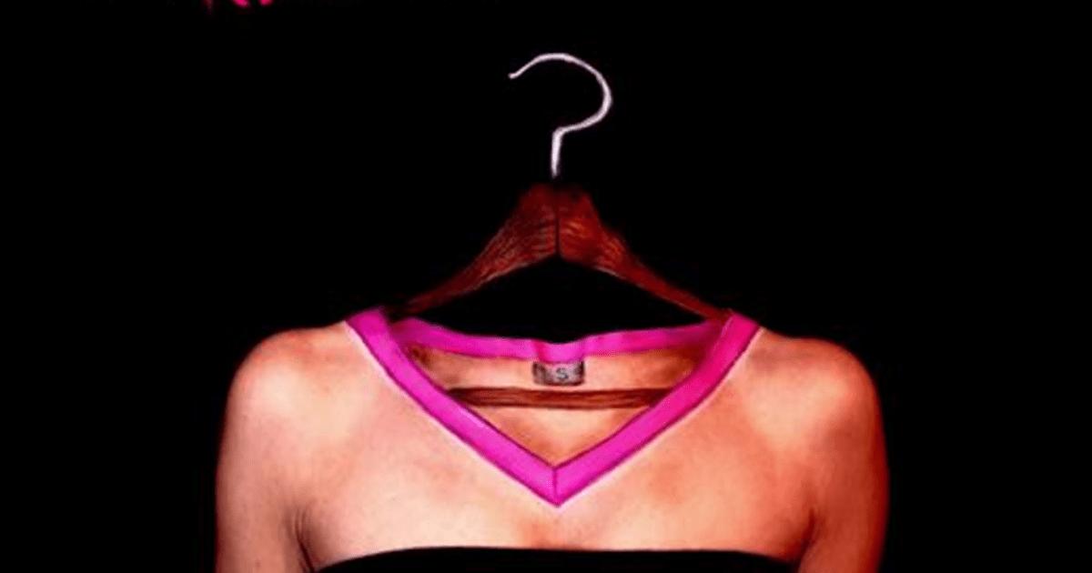 3D body art makeup illusion