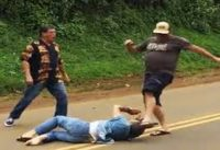 Hawaii knife fight