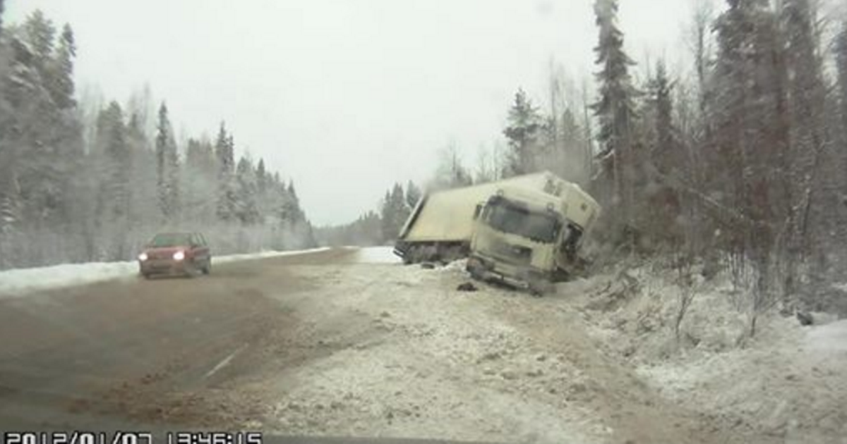 Semi-Truck Slides Out
