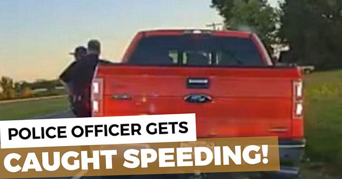 cop overspeeding