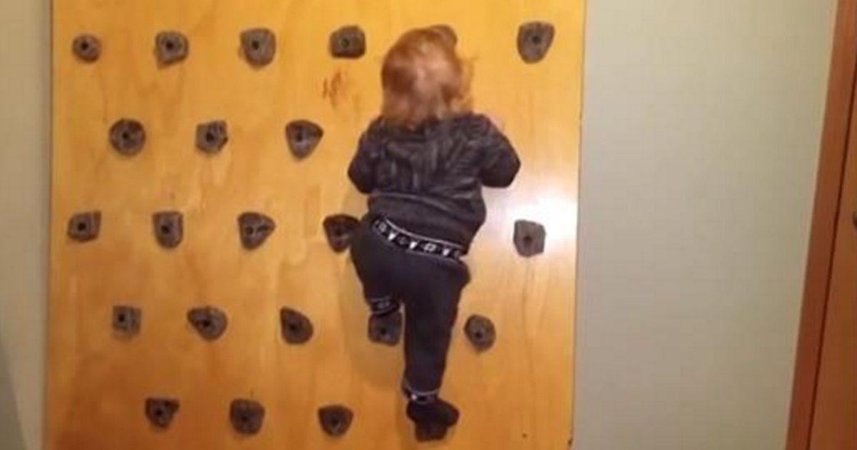 homemade climbing wall