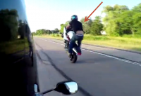 motorcycle crash video