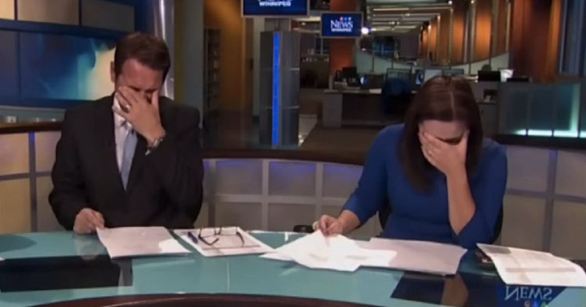 Anchors Laughing So Hard They Couldn't Continue The News
