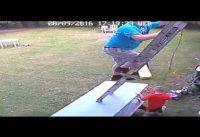 dangerous ladder video