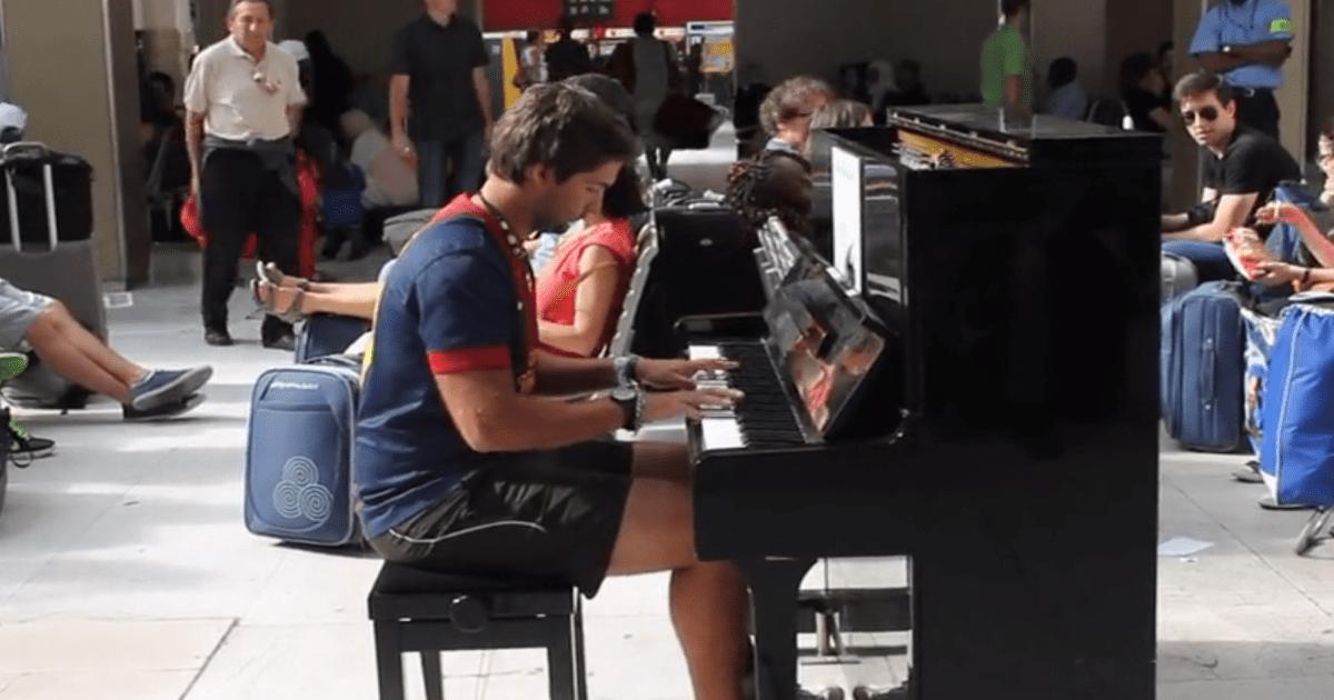 public piano video