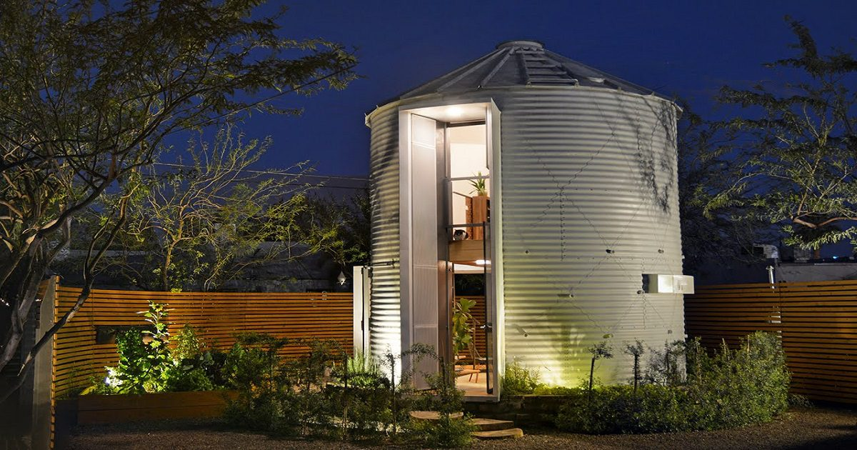 Tiny Grain Silo Home
